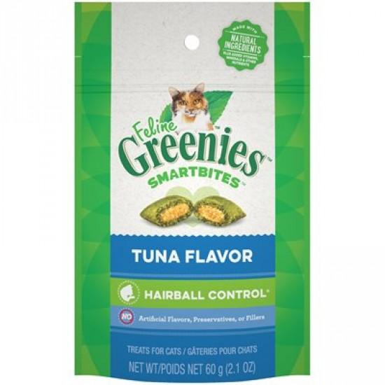 Féline Greenies Smartbites Contrôle des boules de poils au thon 60 g