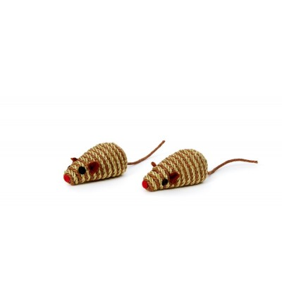 """Bud'z chat jouet souris dore 2,5"""" (paquet de 2)"""
