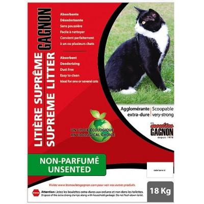 Litière agglomérante Gagnon  non-parfume 18 kg