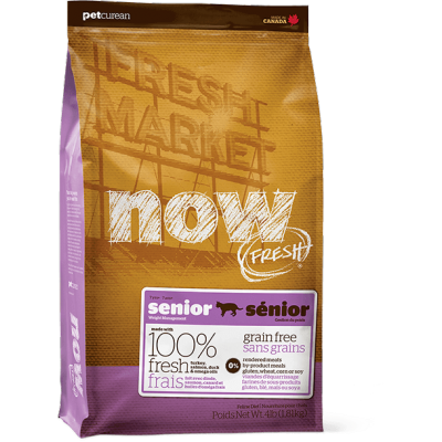 Now Chat Senior Sans Grains Dinde/Saumon/Canard 16 lbs