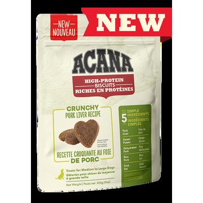 ACANA Biscuits (Gros) riches en protéines, recette croquante au foie de porc 255 g