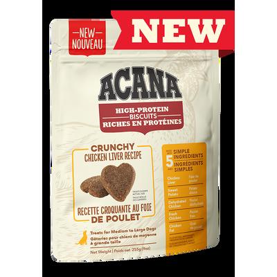 ACANA Biscuits (petit) riches en protéines, recette croquante au foie de poulet 255 g