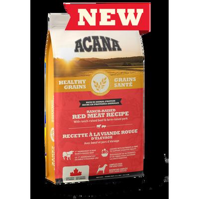 ACANA Grains Santé Chien Viande Rouge d'élevage 1.8 kg  (Nouvelle Formule)