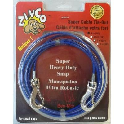 Zinco Cable d'attache extra-fort pour petits chiens