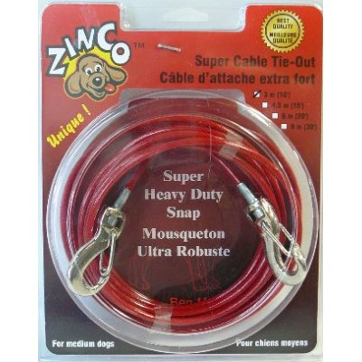 Zinco Cable d'attache extra fort pour chiens moyens