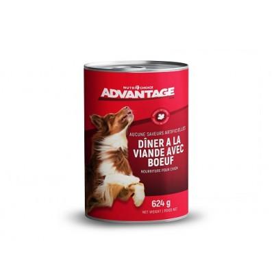 Advantage Diner à viande avec bœuf 624 g