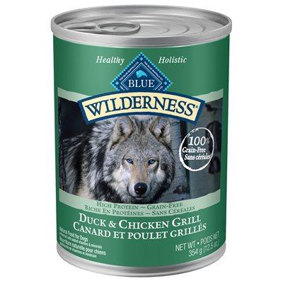 Conserve Blue Wilderness Chien Adulte Canard & Poulet Grillés 354 g