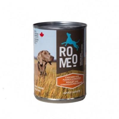 ROMEO Conserve Chien Poulet, Citrouille & Pois Chiches 13oz
