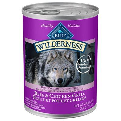 Conserve Blue Wilderness Chien Adulte Boeuf & Poulet Grillés 354 g