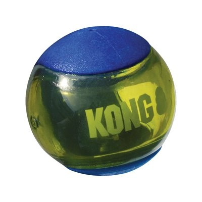 Kong Balle Squeezz Action Medium bleu (paquet de 3)