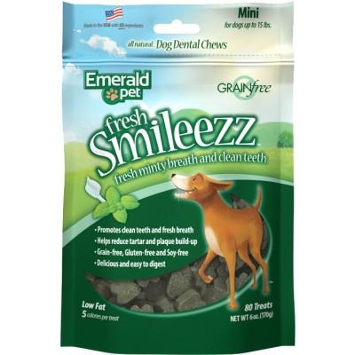 Emerald Pet Bouchees Fresh Smileezz Dentaire Mini 80 morceaux