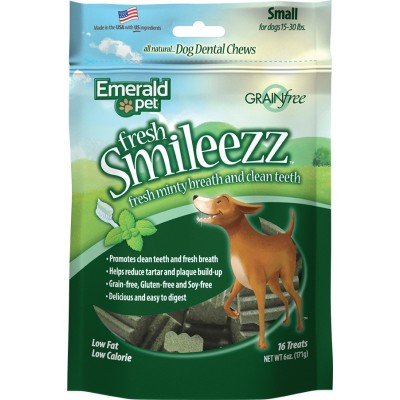 Emerald Pet Fresh Smileezz Dentaire Medium 6 oz 16/pq