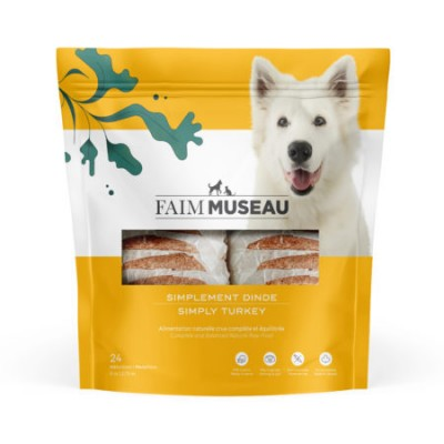 Faim Museau Cru Simplement Dinde chien / chat 6 lbs